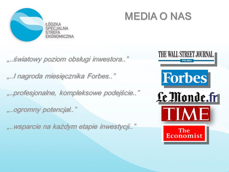 """""""..światowy poziom obsługi inwestora.."""" """"..I nagroda miesięcznika Forbes.."""" """"..profesjonalne, kompleksowe podejście.."""" """"..ogromny potencjał.."""" """"..wspa"""