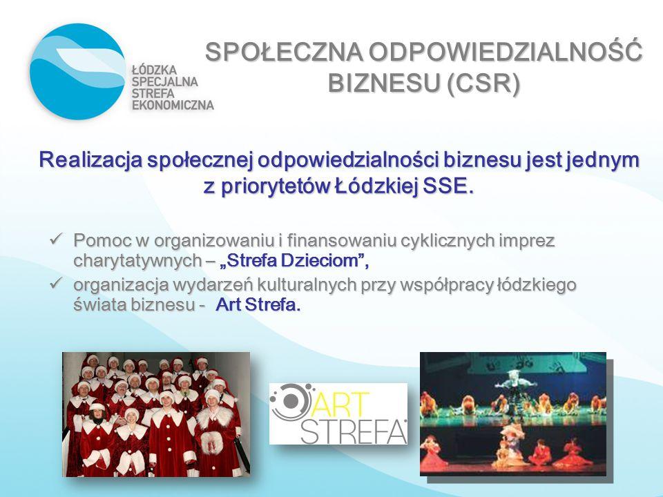 Realizacja społecznej odpowiedzialności biznesu jest jednym z priorytetów Łódzkiej SSE. Pomoc w organizowaniu i finansowaniu cyklicznych imprez charyt