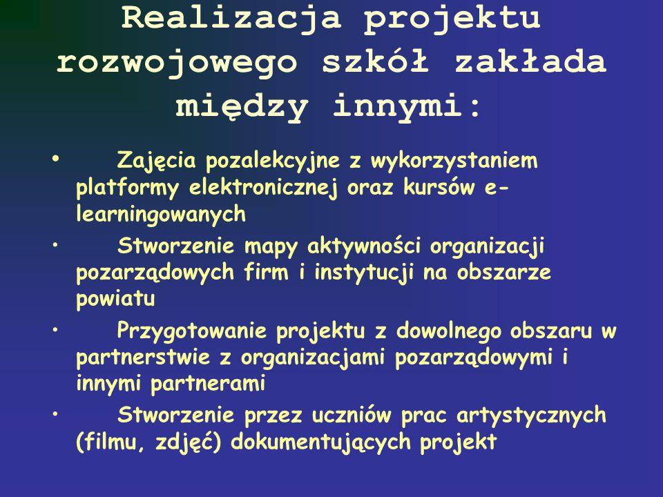 Przyjazna szkoła skupia się na edukacji: poprzez sztukę- film, teatr, multimedia, plastyka itp. obywatelskiej (funkcjonowanie demokratycznego państwa