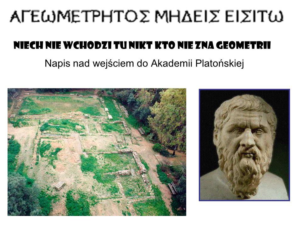 Niech nie wchodzi tu nikt kto nie zna geometrii Napis nad wejściem do Akademii Platońskiej