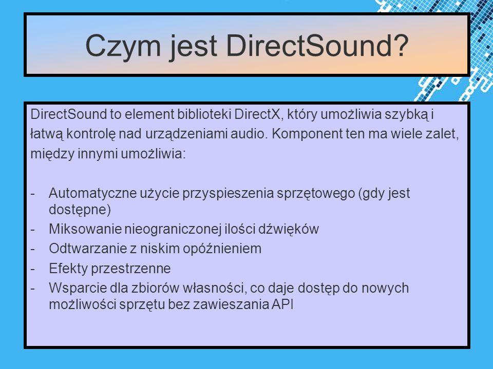 Powerpoint Templates Page 3 Czym jest DirectSound.