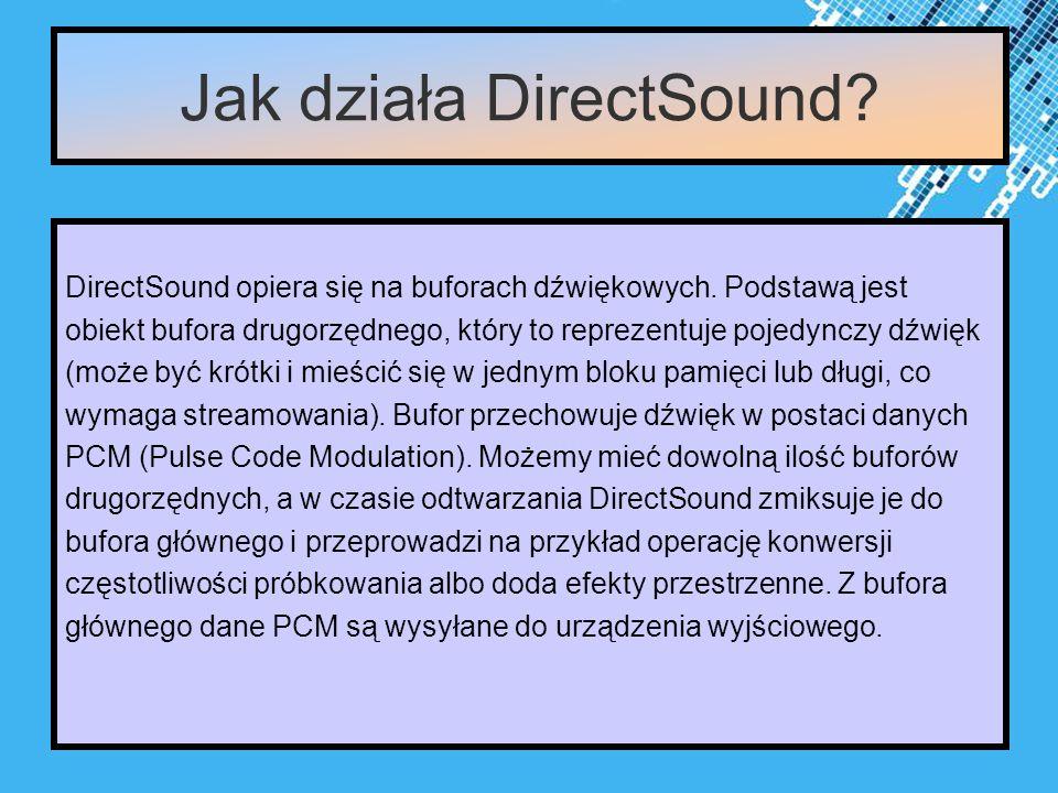 Powerpoint Templates Page 4 Jak działa DirectSound.
