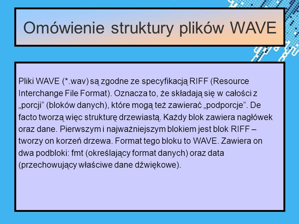 Powerpoint Templates Page 9 Omówienie struktury plików WAVE Pliki WAVE (*.wav) są zgodne ze specyfikacją RIFF (Resource Interchange File Format).