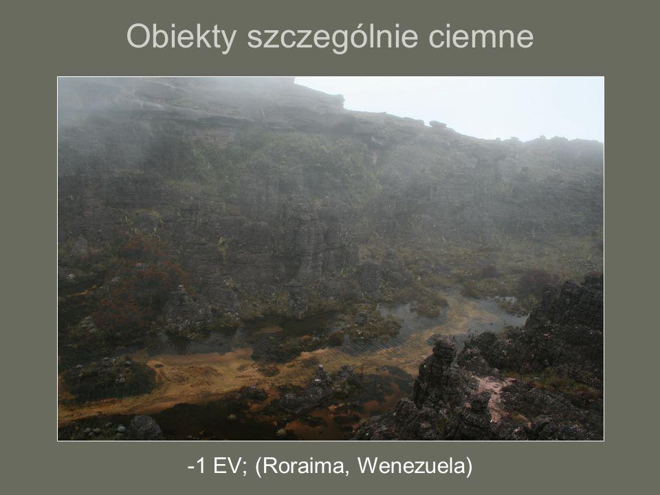 Obiekty szczególnie ciemne -1 EV; (Roraima, Wenezuela)