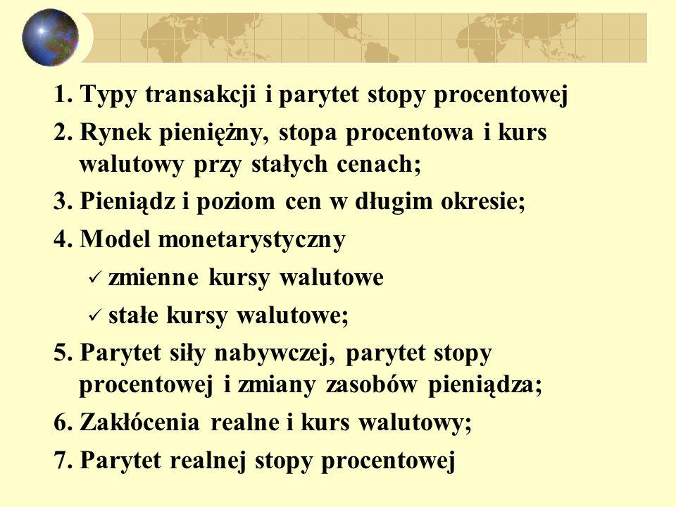 Typy transakcji arbitrażowe bieżące i terminowe forward Futures opcje walutowe