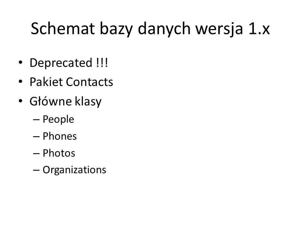 Schemat bazy danych wersja 1.x Deprecated !!.