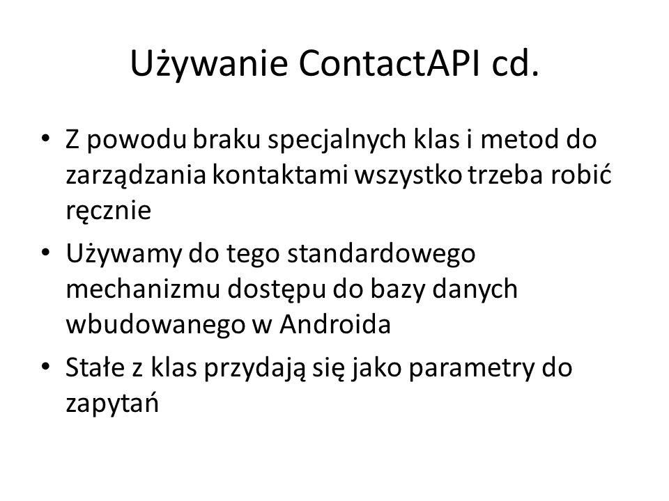 Używanie ContactAPI cd.
