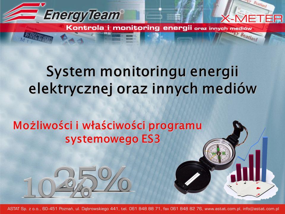 System monitoringu energii elektrycznej oraz innych mediów Możliwości i właściwości programu systemowego ES3