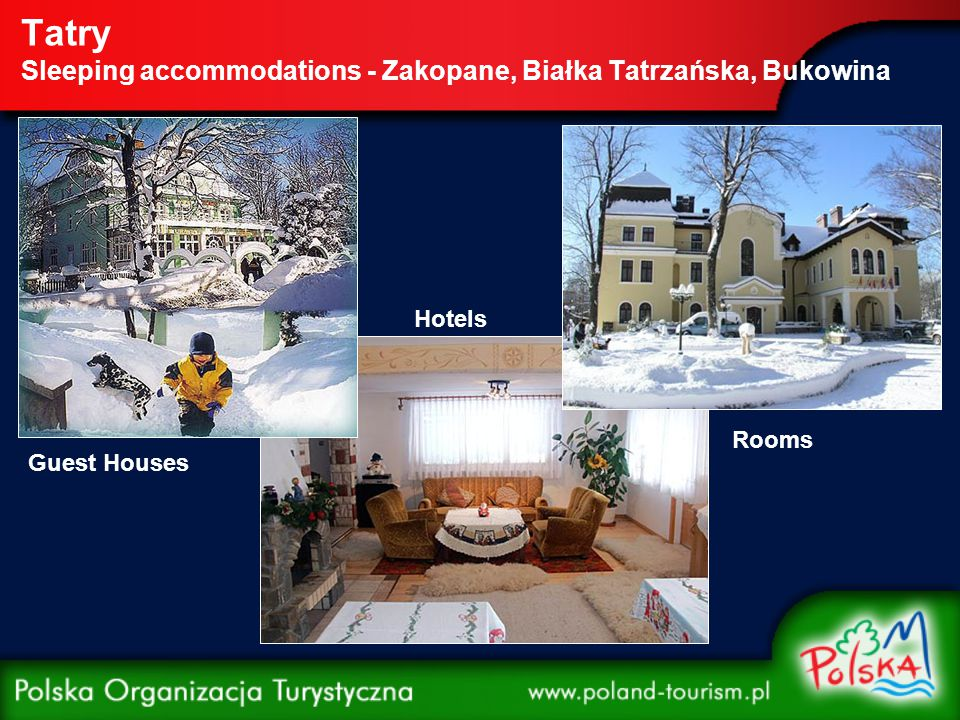 Tatry Sleeping accommodations - Zakopane, Białka Tatrzańska, Bukowina Guest Houses Hotels Rooms