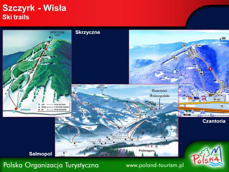 Szczyrk - Wisła Ski trails Skrzyczne Salmopol Czantoria