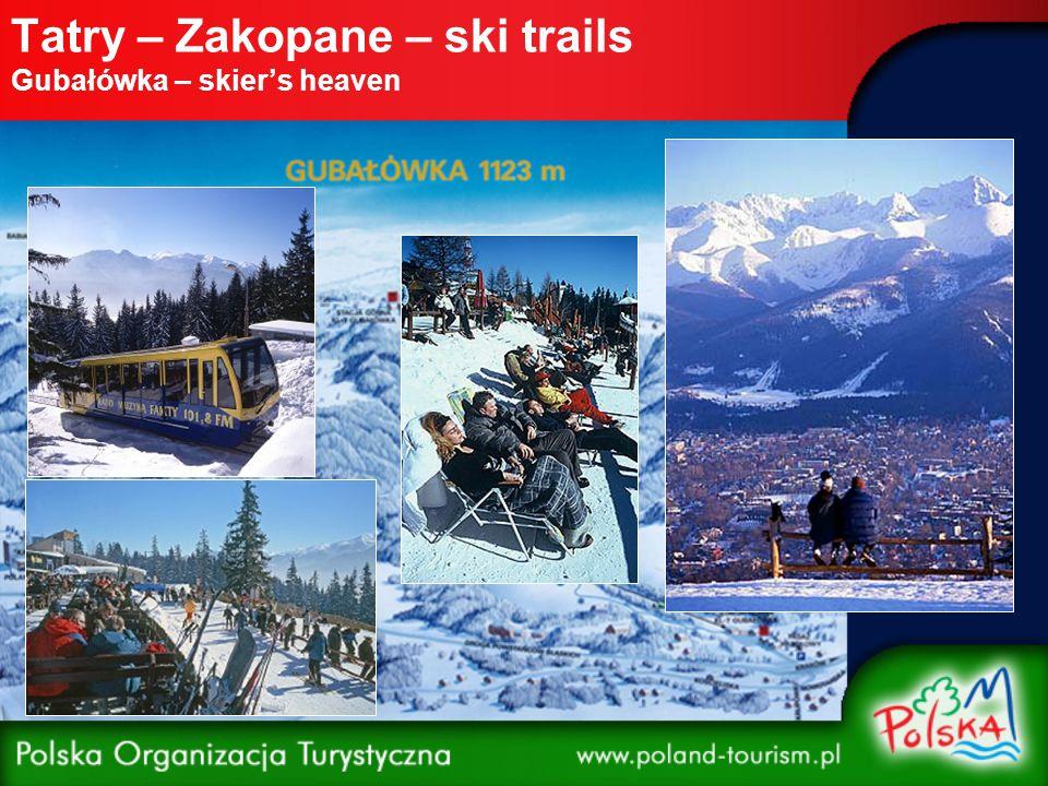Tatry – Zakopane – ski trails Kasprowy Wierch Route: Kasprowy Wierch - Kocioł Gąsienicowy - Hala Gąsienicowa Distance: 4.5 miles Route: Kasprowy Wierch - Kocioł Goryczkowy Distance: 3 miles Route: Kocioł Goryczkowy - Hala Kondratowa - Kuźnice Distance: 3.7 miles