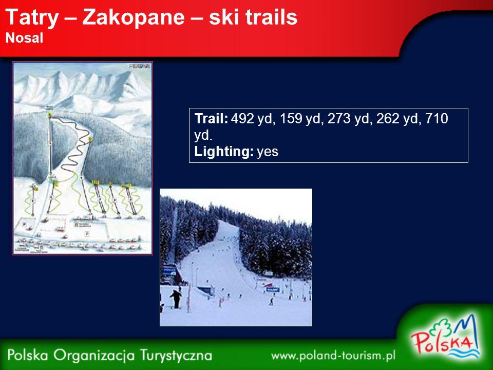 Tatry – Zakopane – ski trails Polana Szymoszkowa Short Trail Distance: 438 yd Lighting: yes Long Trail Distance: 1,467 yd Lighting: yes