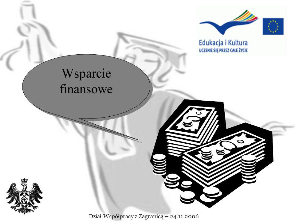 Dział Współpracy z Zagranicą – 15.05.2007 Praktyka w przedsiębiorstwie lub innej instytucji pozaakademickiej jest dopuszczalna jeżeli: jest uzupełnieniem okresu studiów (przy spełnieniu wymogu minimalnego ich trwania) Okres studiów może obejmować praktykę jedynie pod warunkiem, że przed praktyką lub po niej okres studiowania wynosi minimum 3 miesiące stanowi integralna część uzgodnionego programu studiów (Learning Agreement) nie jest finansowana w ramach innych programów wspólnotowych