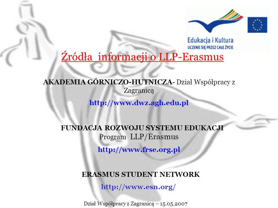 SUKCESÓW POWODZENIA !!!! ŻYCZYMY Dział Współpracy z Zagranicą – 15.05.2007