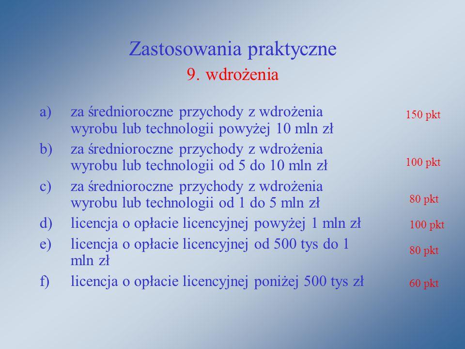 Zastosowania praktyczne 9.