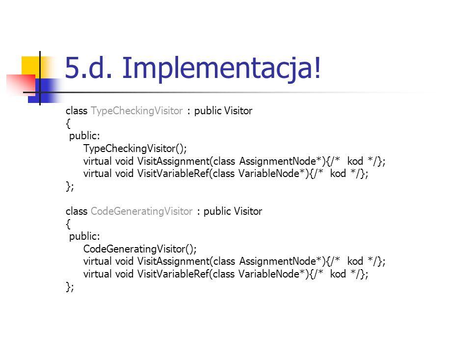 5.d. Implementacja.
