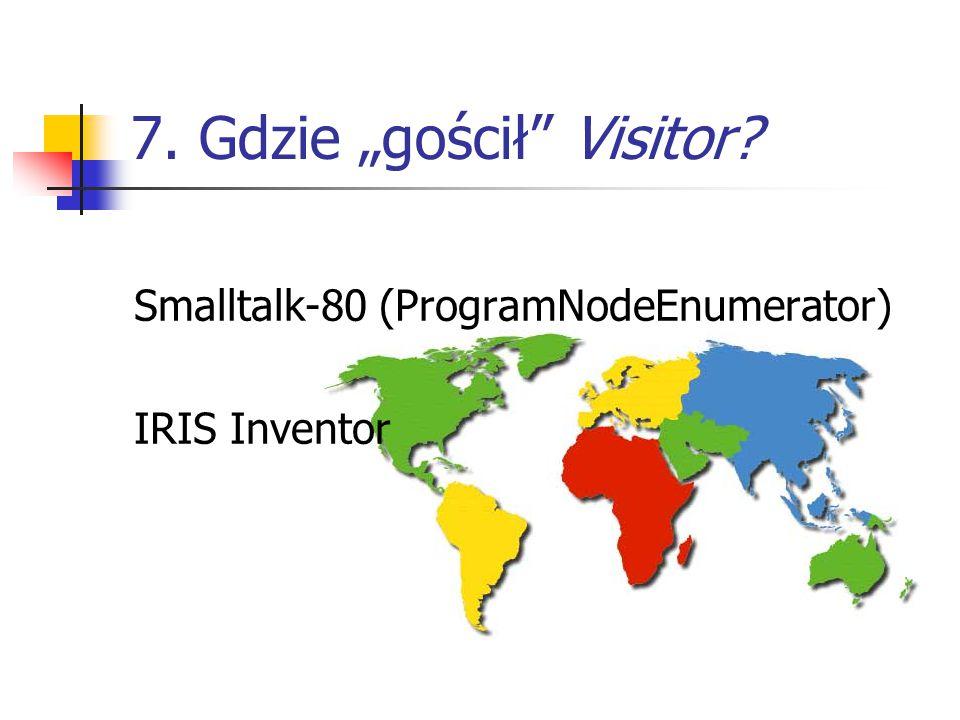 "7. Gdzie ""gościł Visitor Smalltalk-80 (ProgramNodeEnumerator) IRIS Inventor"
