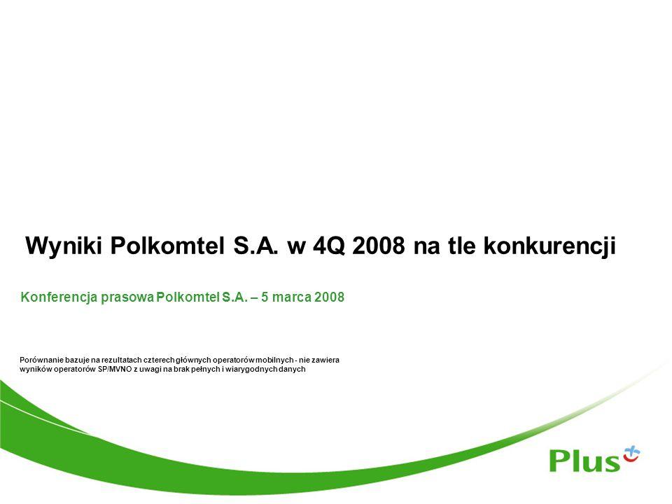 Wyniki Polkomtel S.A.