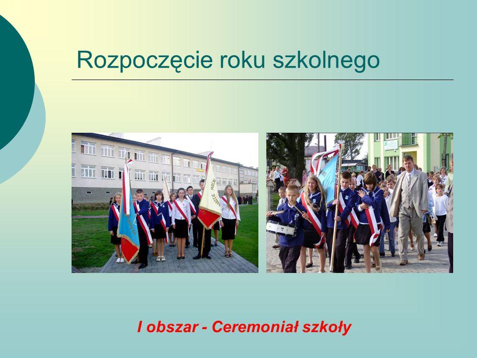 Pasowanie na ucznia I obszar - Ceremoniał szkoły