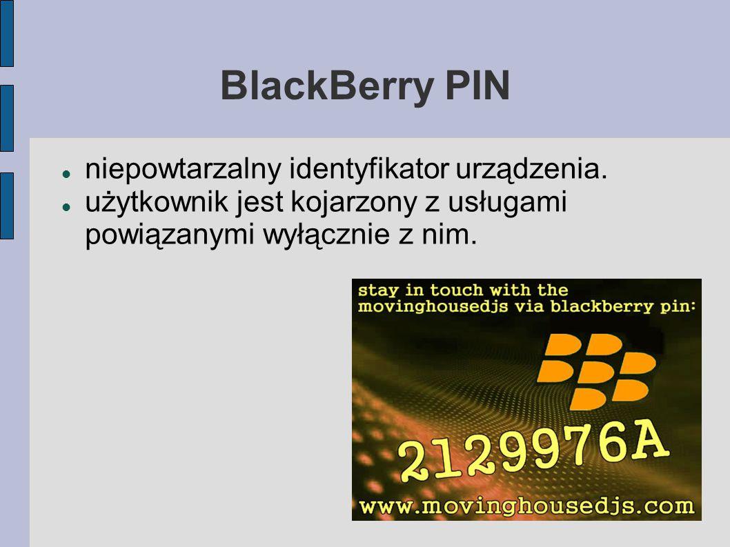 BlackBerry PIN niepowtarzalny identyfikator urządzenia.