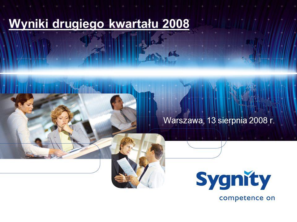 Wyniki drugiego kwartału 2008 Warszawa, 13 sierpnia 2008 r.