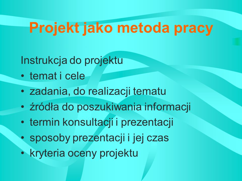 Ocena projektu Etap realizacji - formułowanie tematu Oceniane umiejętności precyzyjne formułowanie tematu jasne określenie celów projektu