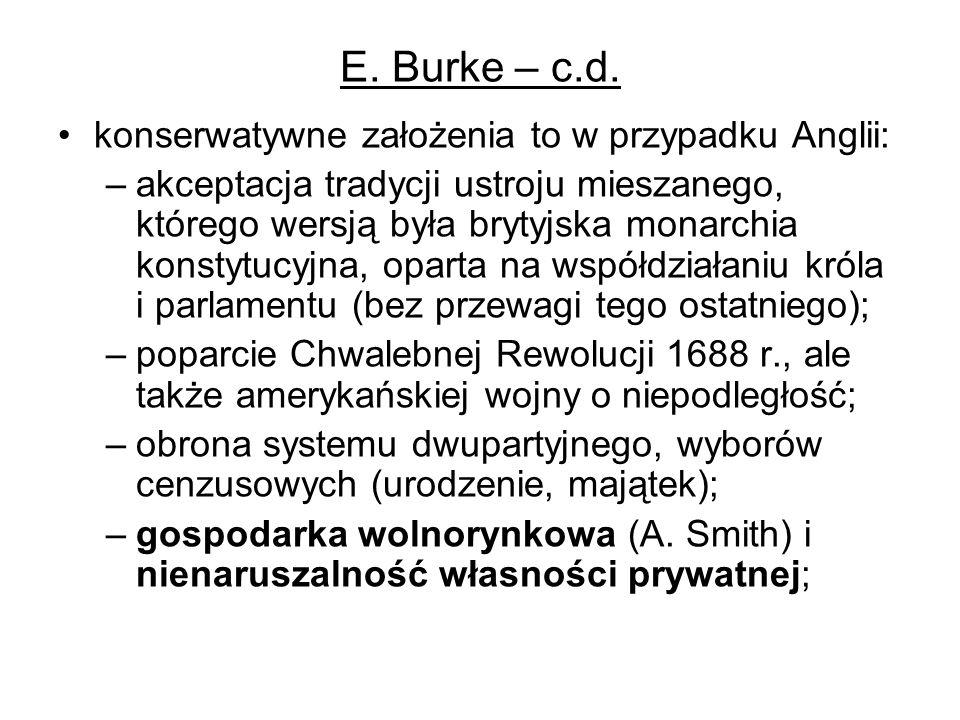 E.Burke – c.d.