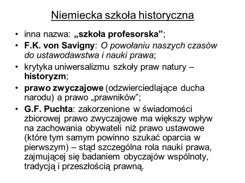 """Niemiecka szkoła historyczna inna nazwa: """"szkoła profesorska ; F.K."""