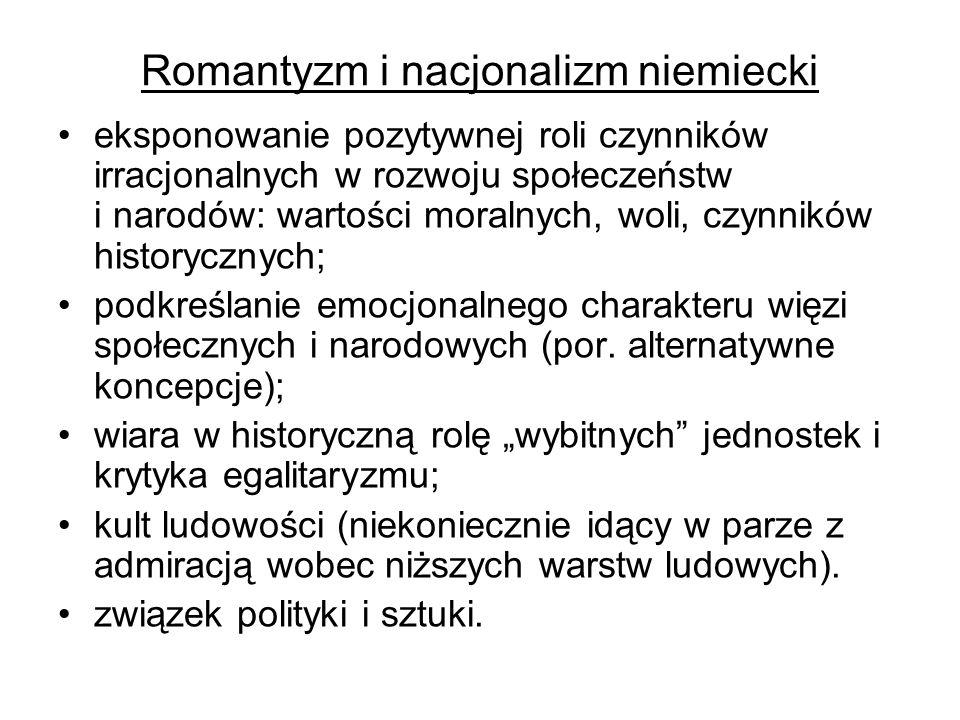 Romantyzm i nacjonalizm niemiecki – c.d.J.G.