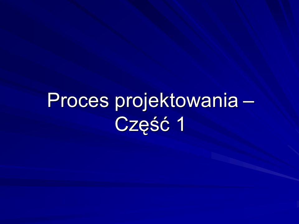 Proces projektowania – Część 1