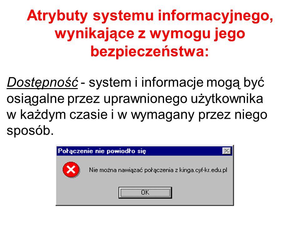 Klasyfikacja zagrożeń 2: ze względu na umiejscowienie źródła zagrożenia: wewnętrzne - mające swoje źródło wewnątrz organizacji użytkującej system info