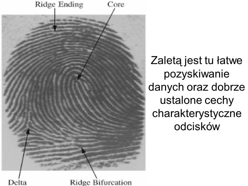 Do najbardziej znanych metod biometrycznych należy skanowanie odcisku palca i ocena jego szczegółów, tzw. minucji.