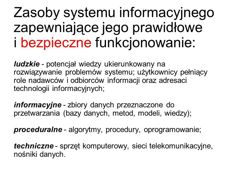 Zagadnieniom bezpieczeństwa systemów informatycznych poświęcone są liczne normy i standardy (polskie i międzynarodowe) PN-I-13335-1:1999, PN-ISO/IEC 1