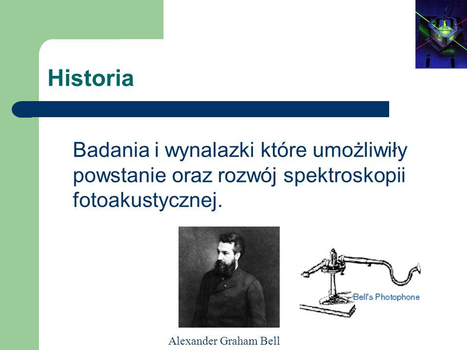Historia Badania i wynalazki które umożliwiły powstanie oraz rozwój spektroskopii fotoakustycznej.