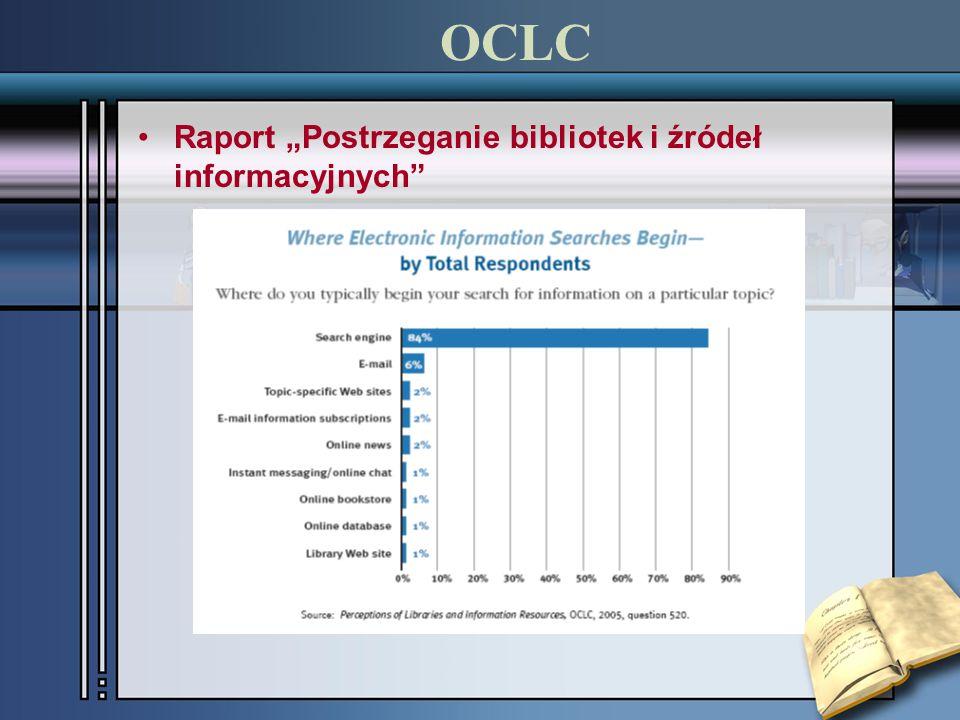 """OCLC Raport """"Postrzeganie bibliotek i źródeł informacyjnych"""