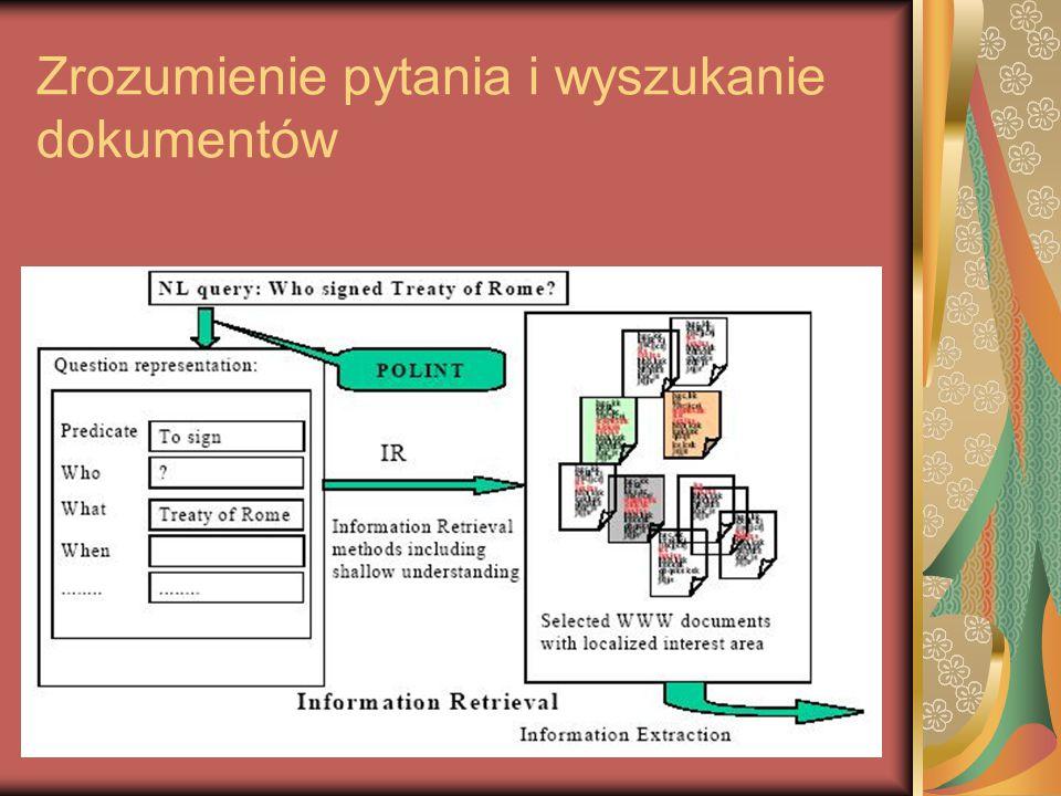 Zrozumienie pytania i wyszukanie dokumentów