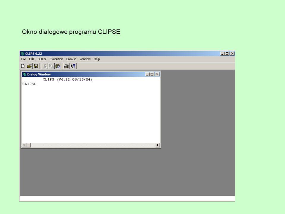 Okno dialogowe programu CLIPSE