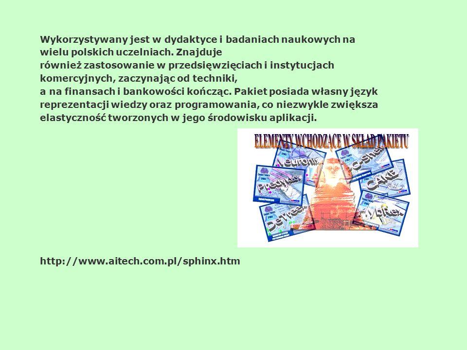 Wykorzystywany jest w dydaktyce i badaniach naukowych na wielu polskich uczelniach. Znajduje również zastosowanie w przedsięwzięciach i instytucjach k