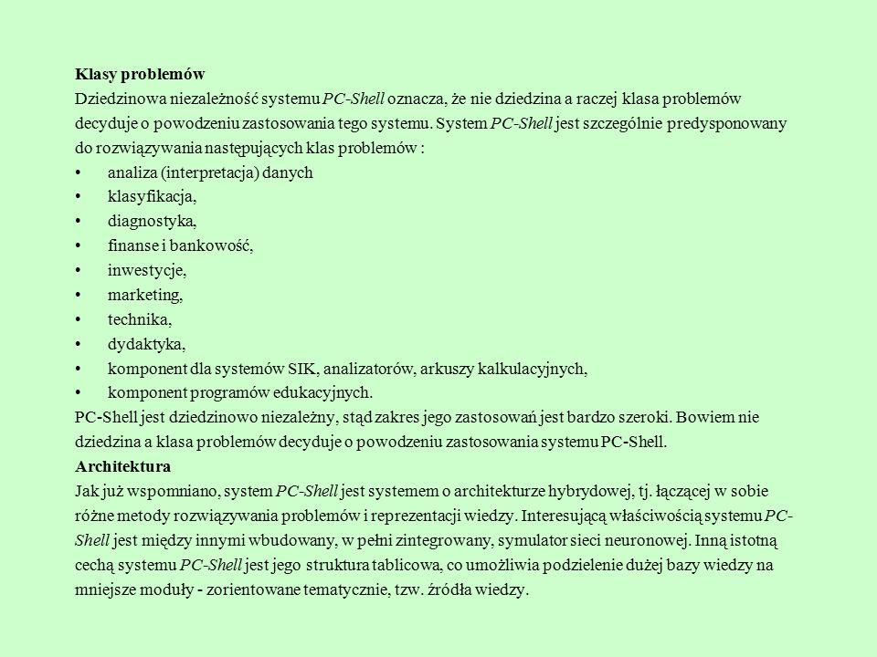 Strona systemu ekspertowego JESS: http://herzberg.ca.sandia.gov/jess/ Manual: http://www.cs.vu.nl/~ksprac/2002/doc/Jess60/table_of_contents.html Dostęp do baz danych Dostęp taki możemy uzyskać z poziomu programu wykorzystując pakiet jess oraz Sterowniki JDBC.