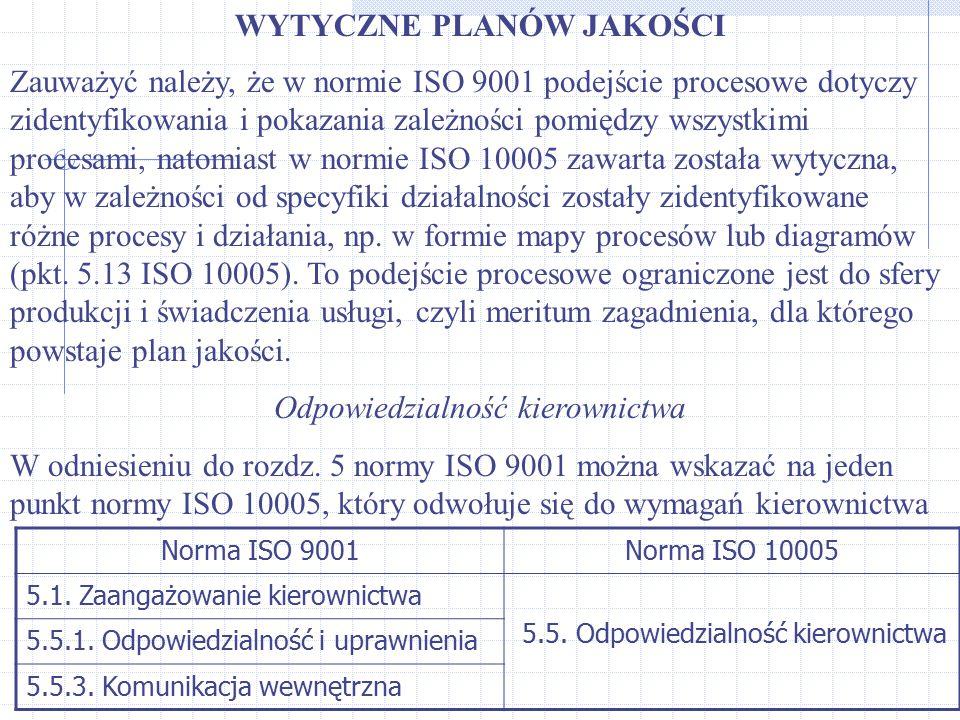 Zauważyć należy, że w normie ISO 9001 podejście procesowe dotyczy zidentyfikowania i pokazania zależności pomiędzy wszystkimi procesami, natomiast w n