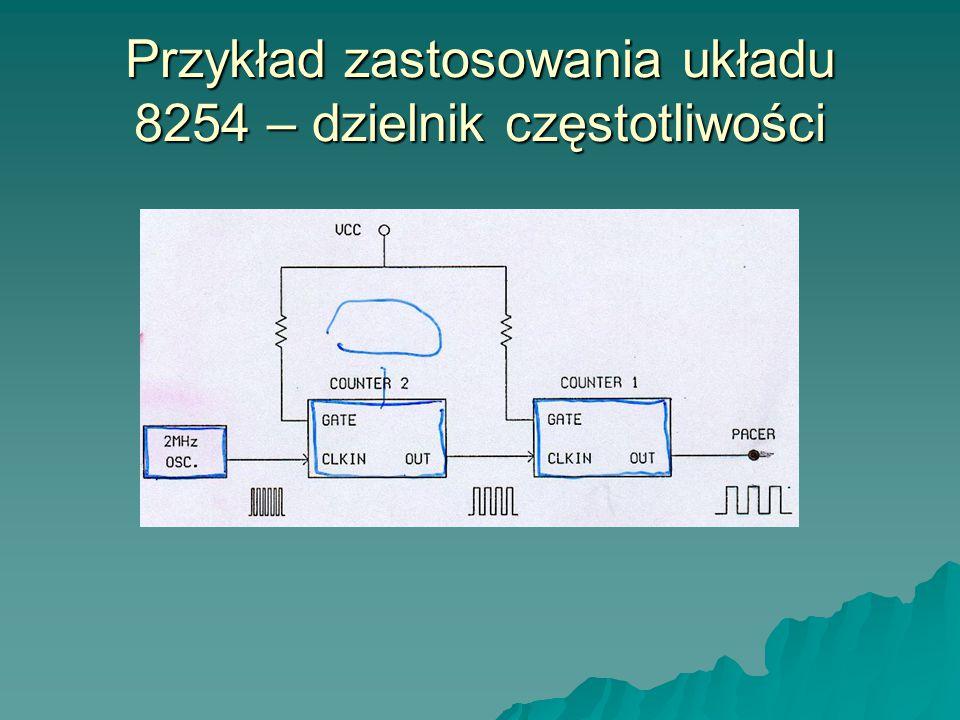 Przykład zastosowania układu 8254 – dzielnik częstotliwości