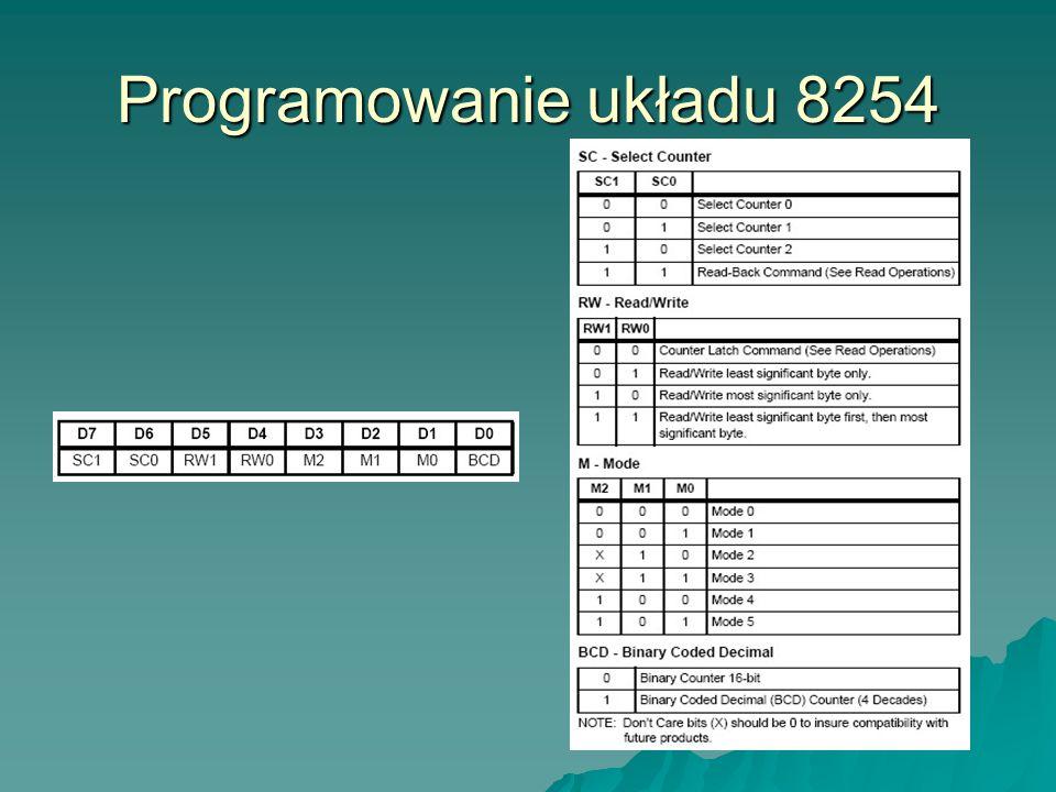 Programowanie układu 8254