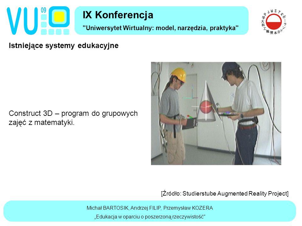 Istniejące systemy edukacyjne Construct 3D – program do grupowych zajęć z matematyki.