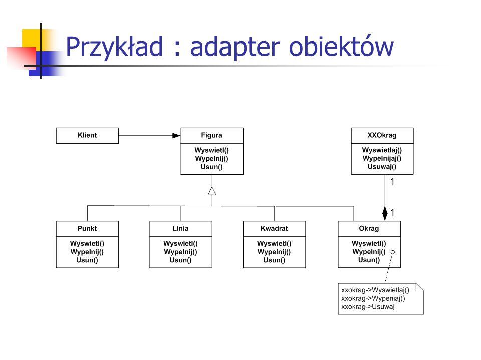 Przykład : adapter obiektów