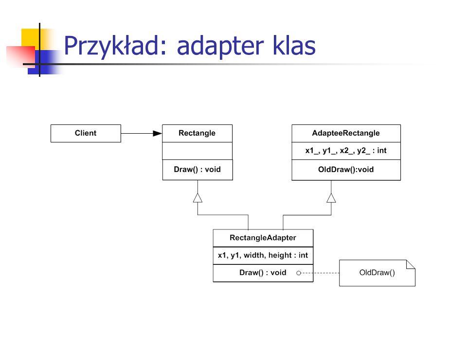 Przykład: adapter klas