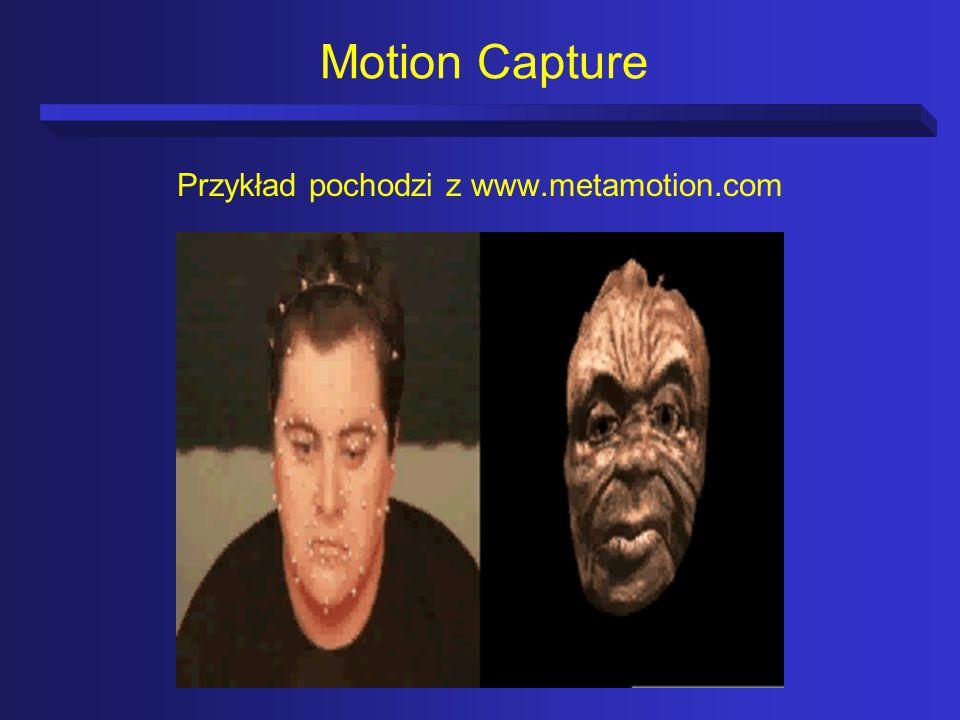 Motion Capture Przykład pochodzi z www.metamotion.com