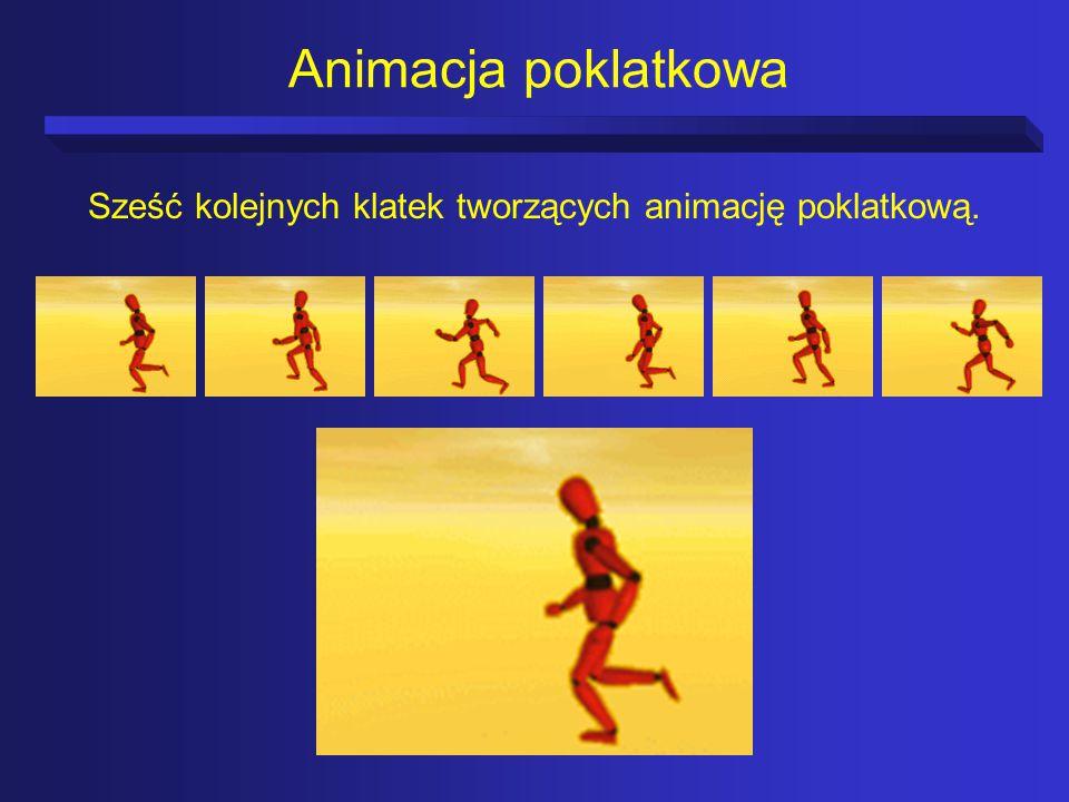 Animacja poklatkowa Sześć kolejnych klatek tworzących animację poklatkową.