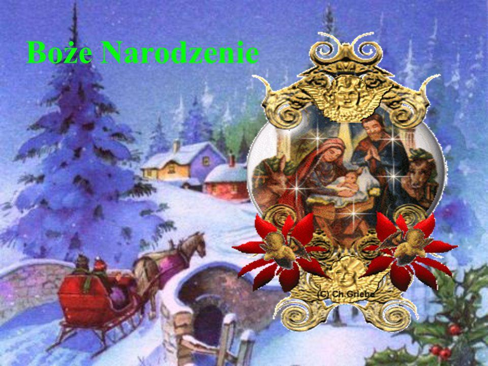 Atrybuty świąt Bożego Narodzenia Op ł atek Kol ę dy Choinka Prezenty Karp Piernik Ś w. Miko ł aj