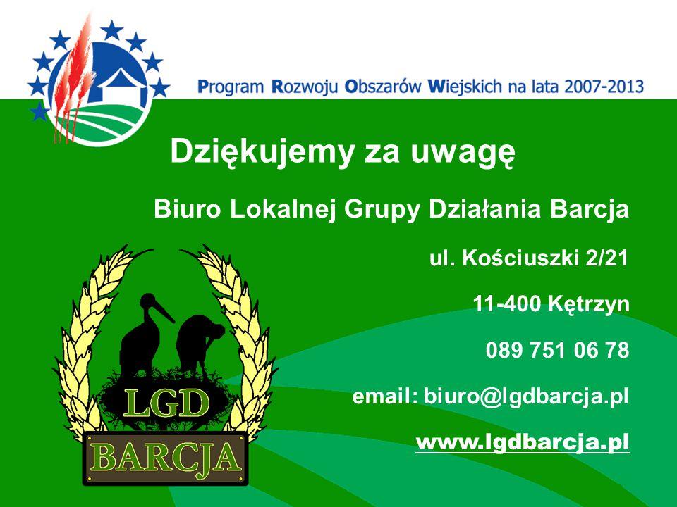 Biuro Lokalnej Grupy Działania Barcja ul.