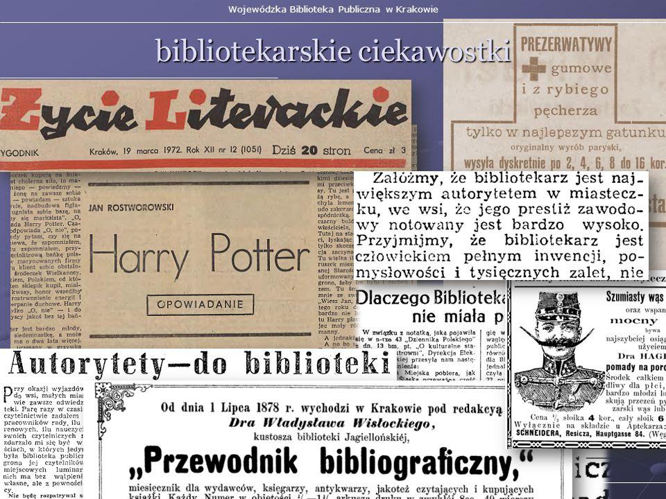 Wojewódzka Biblioteka Publiczna w Krakowie bibliotekarskie ciekawostki Małopolska Biblioteka Cyfrowa